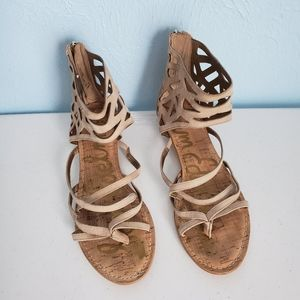 Sam Edelman Dana suede laser-cut sandals
